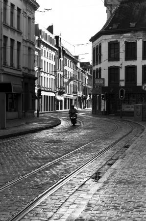 antwerp: street view in antwerp, belgium  Antwerp is the largest city in belgium and has also the second largest harbor of europe Editorial