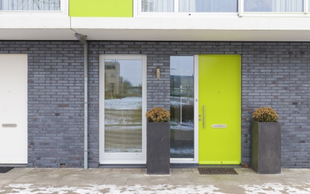 newly build residential houses in zwolle, netherlands Standard-Bild