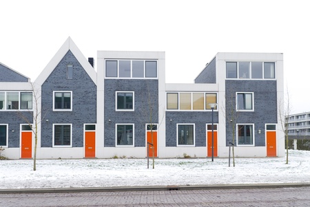 newly build residential houses in zwolle, netherlands Stock Photo
