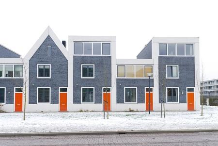 Nueva construcci?e viviendas residenciales en Zwolle, Holanda Foto de archivo - 19120474