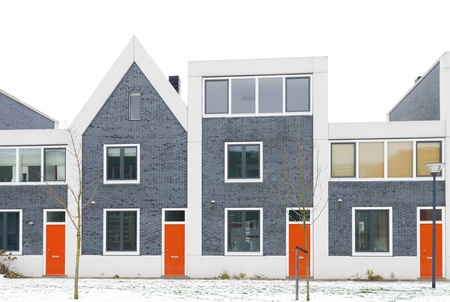 newly build residential houses in zwolle, netherlands photo