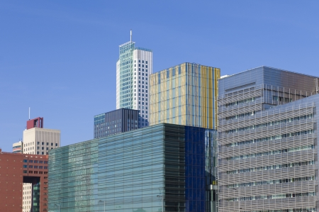 modern architecture in the Rotterdam business district photo
