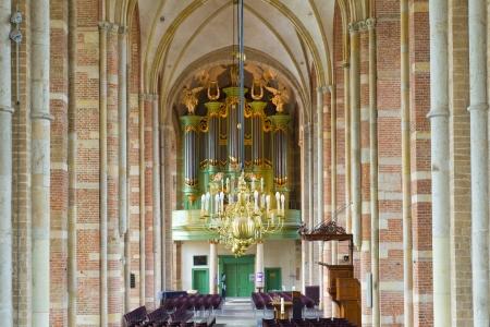 interior of the Lebuinus church in deventer, netherlands