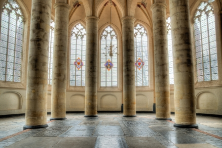 interior of the saint nicholas church in deventer, netherlands