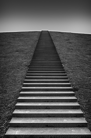 stairs on a hill leading to the top
