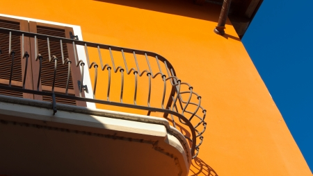 picturesque balcony in a small touristic Italian village photo