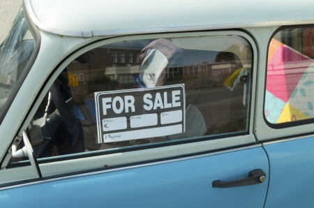 for sale sign on a car photo