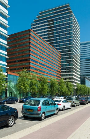 orientated: The amsterdam Zuidas (South Axis) business district. The area is known as an international high level knowledge and business center with over 450 mostly international orientated companies.