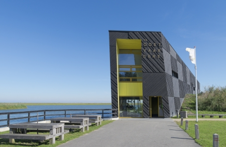 hectare: Nature experience center the Oostvaarder in almere, netherlands. It is designed to experience the nature of the Oostvaardersplassen, a 5600 hectare natural area of marshes and fields. Editorial
