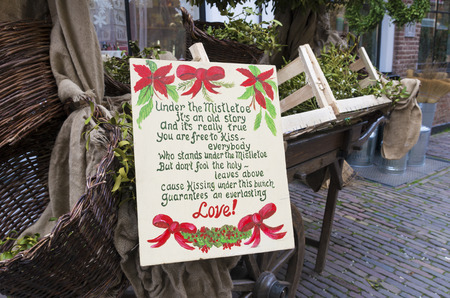 poem: christmas poem about love and mistletoe in the streets of deventer, netherlands