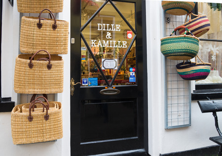 kamille: entrance of a shop in deventer, netherlands. Dille & Kamille offers a wonderful mix of products that still fit perfectly together and the belief in natural simplicity. They have branches in 22 cities in Netherlands and Belgium Editorial