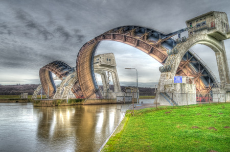 weir: HDR image of the Driel Weir in the Netherlands.