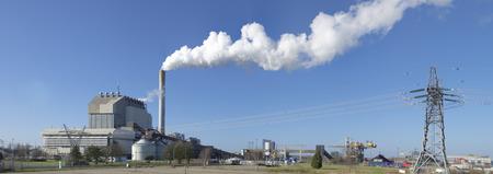 coal fired: coal fired power plant in nijmegen, netherlands Stock Photo