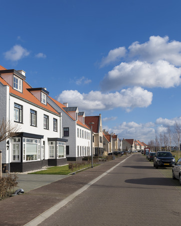 newly build modern detached houses in Borne, Netherlands photo