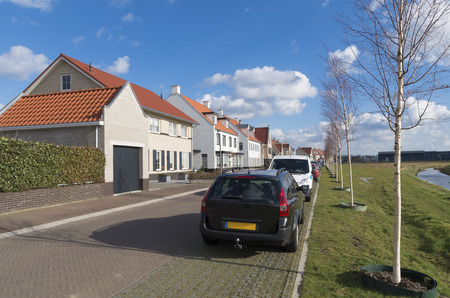 newly build residential area in Borne, Netherlands photo