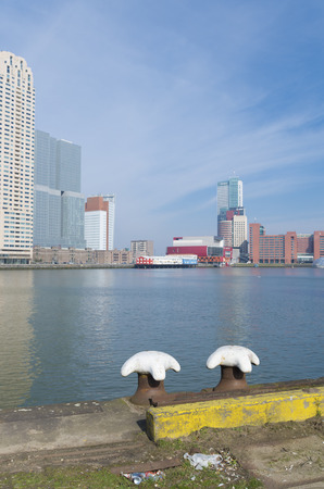 maas: modern skyline of Rotterdam. Rotterdam is the only city in the Netherlands with a real skyline. Rotterdam is together with Frankfurt, Madrid, Paris, Moscow, Warsaw and London in the top European cities with high-rise buildings.