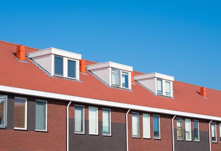 newly build terraced houses with dormer windows Reklamní fotografie
