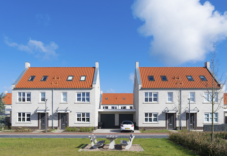 newly build residential area in the netherlands photo