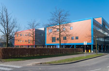 wilhelmina: modern exterior of the Wilhelmina childrens hospital in Utrecht, Netherlands