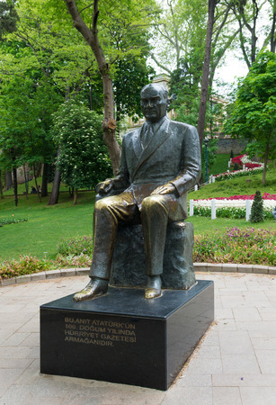 founder: statue of the former leader Ataturk in the Gulhane park in Istanbul