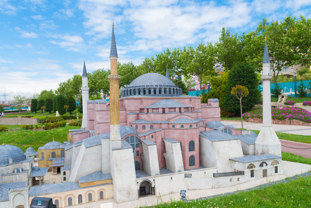 replicated: Miniaturk park in istanbul, the largest miniature park in the world. The park contains 105 buildings, each replicated on a scale of 1:25. Editorial
