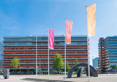 visitors area: exterior of the fair trade building in utrecht, netherlands. The Fair receives about 2.5 million visitors with an area of ​​100,000 square meters