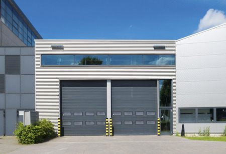 despatch: modern industrial unit with roller doors
