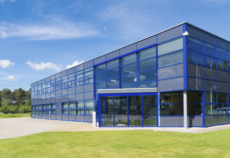 commercial: exterior of a modern small office building