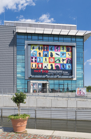 musique: Exterior of the Rock n Pop Museum in Gronau, Germany. The museum tells the cultural history of popular music in the 20th century