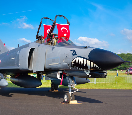 Turkish F4 phantom at the Royal Dutch Air Force Days 2014 in Gilze-Rijen. The airbase was in 2 days visited by 245,000 visitors.