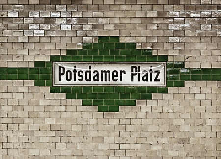 U-bahn (subway) station Potzdamer Platz in Berlin. The U-bahn serves 170 stations spread across ten lines with a total track length of 151.7 km.