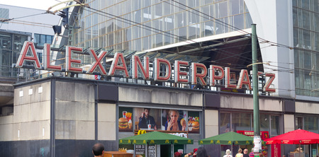 headings: metro station Alexanderplatz in Berlin. In terms of passengers it ranks as the third busiest railway station in Berlin.