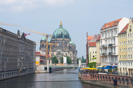 view on the Berlin cathedral, A famous landmark on the Museum Island in Mitte, Berlin, Germany.