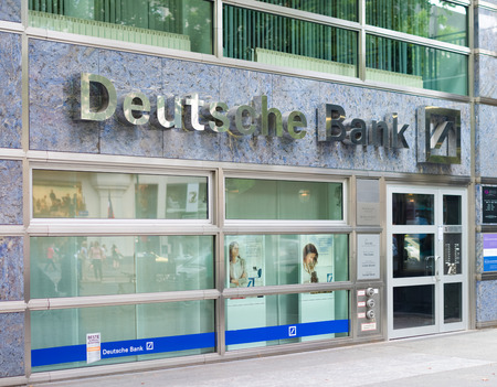 bank branch: branch of Deutsche Bank in Berlin. Founded in 1870, its founders saw its main purpose as being to finance Germany Editorial