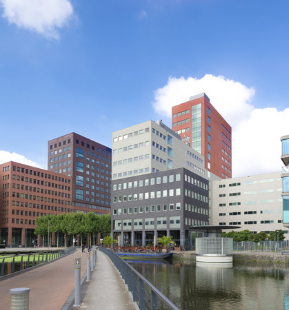 modern office buildings in the hague, netherlands. Stock Photo