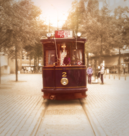 old tramway in The Hague, netherlands