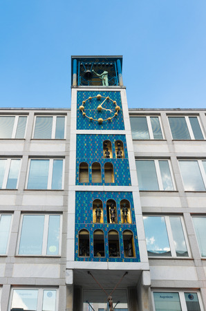 westfalen: art nouveau clock tower in essen, germany