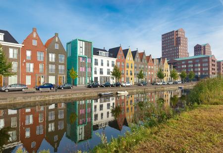 moderne woonhuizen in Amersfoort, Nederland Redactioneel