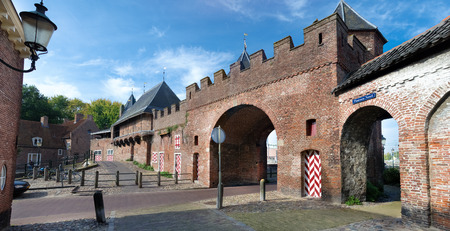 remnants: remnants of the medieval gate Koppelpoort in Amersfoort, Netherlands Stock Photo