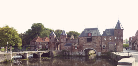 remnants of the medieval gate Koppelpoort in Amersfoort, Netherlands Reklamní fotografie