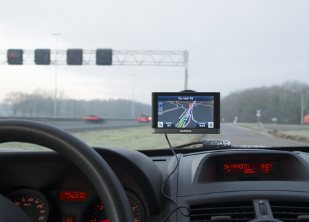 garmin gps navigation device in a car