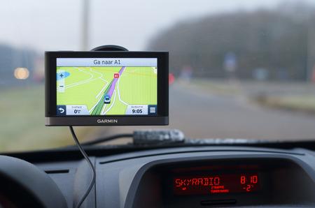 Garmin GPS navigatiesysteem in een auto