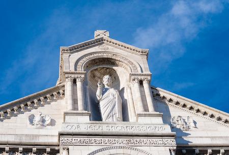 sacre: detail of the sacre coeur in montmartre, paris