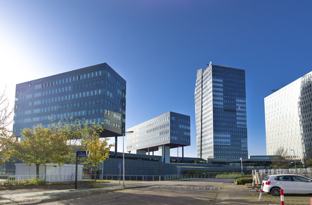 modern office buildings in Zwolle, netherlands. Zwolle is the capital of the dutch province Overijssel Stock Photo