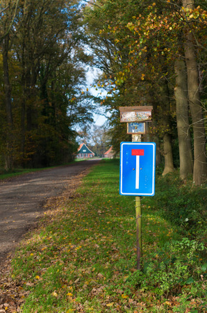 dead end: dead end traffic sign on a rural road Stock Photo