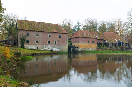 watermill: back site of an old watermill in Denekamp, Netherlands
