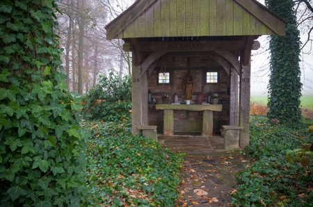chapel: small chapel in a forest