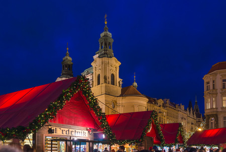 Christmas market in the old historic center of Prague