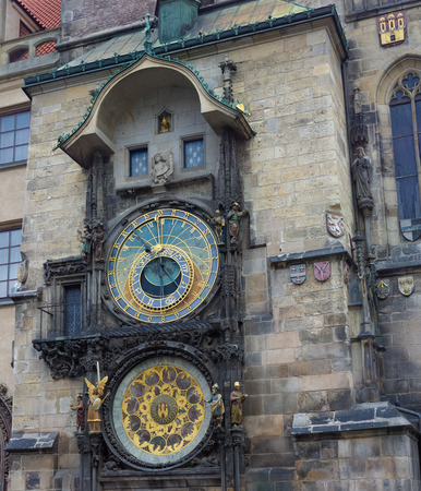astronomical: famous astronomical clock in prague, czech republic Stock Photo