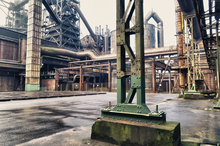 shut down: The Landschaftspark Duisburg-Nord is a public park in the German city of Duisburg. The centerpiece of the park is formed by the ruins of a blast furnace complex shut down in 1985.